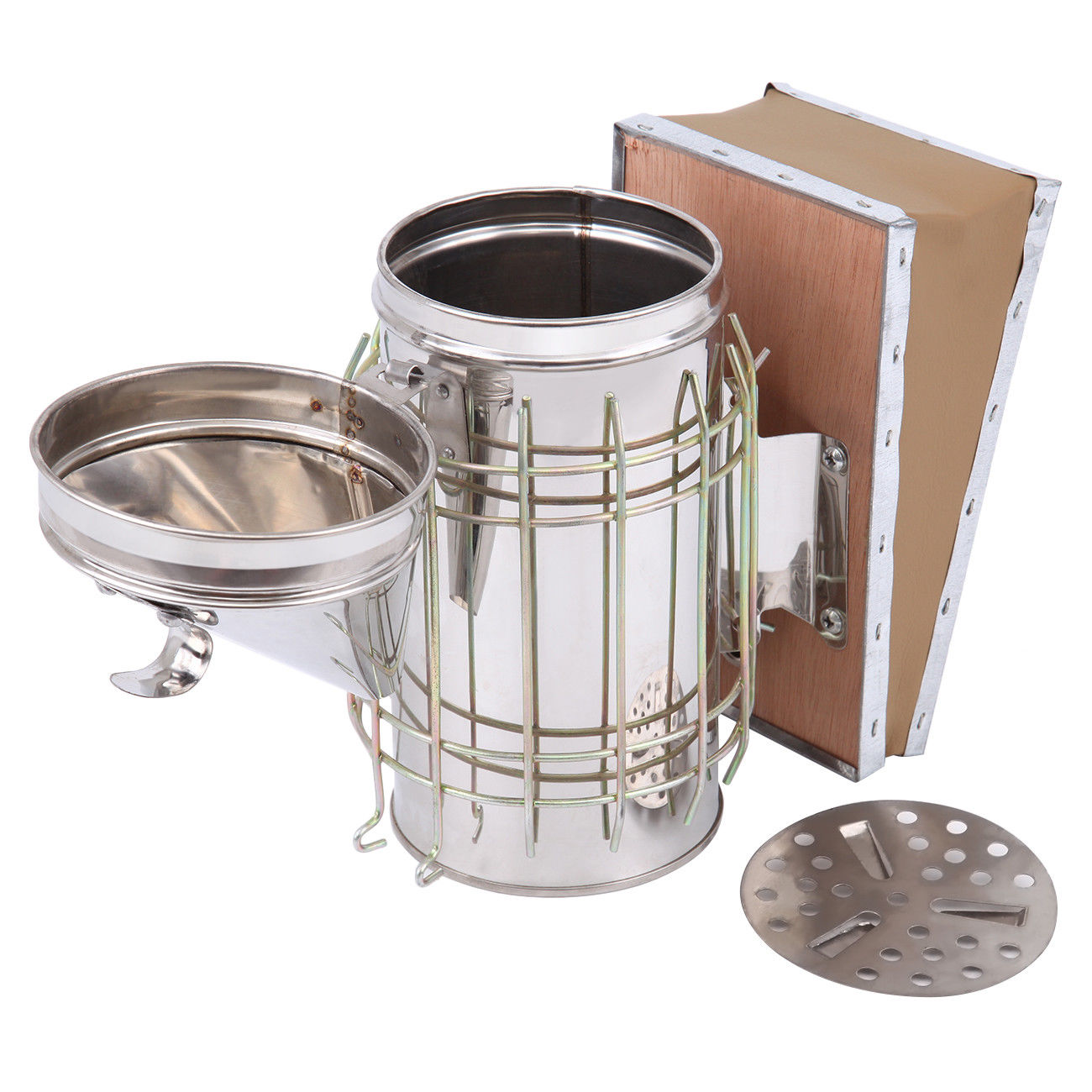 Economic stainless steel bee smoker
