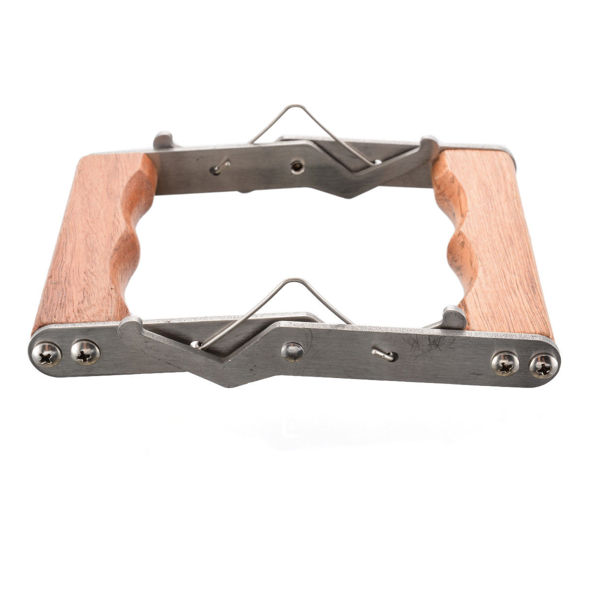 Stainless steel Frame grip with wooden handle