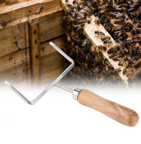 Bee hive frame lifter